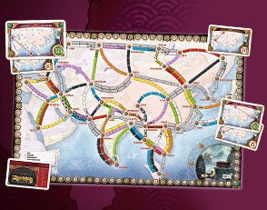 Ticket To Ride Asia Map.Ticket To Ride Asia Available For Preorder